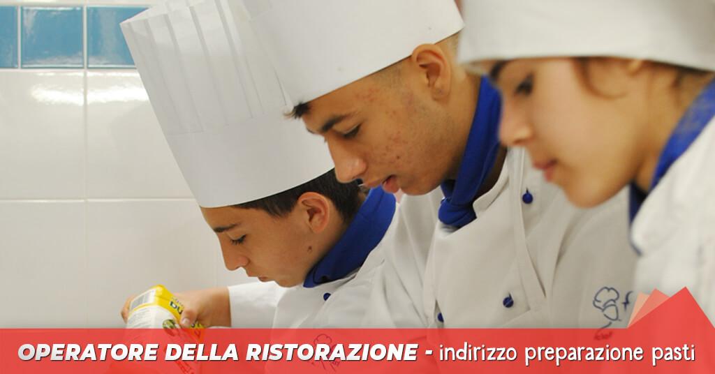 Corso Gratuito Qualifica di Operatore della ristorazione preparazione pasti - ciofs fp lazio