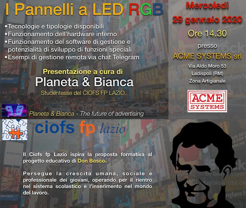 Ladispoli (Roma). La rivoluzione della pubblicità Led a misura di ogni azienda